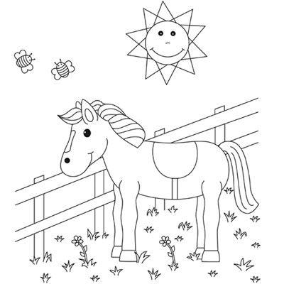 malvorlagen uhr pferd